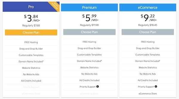 SiteBuilder Prezzi