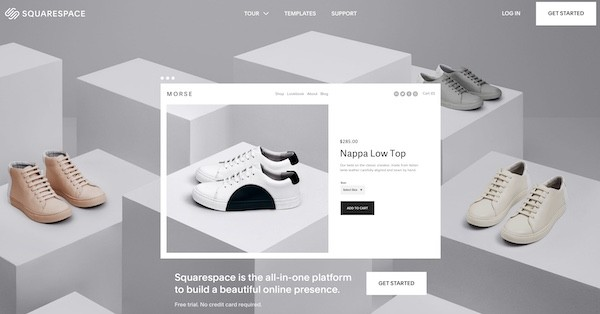 Squarespace best website builder homepage