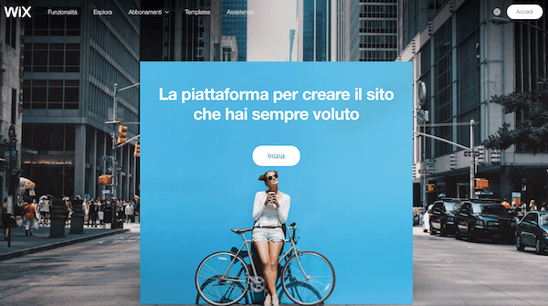 Wix software per creare siti web