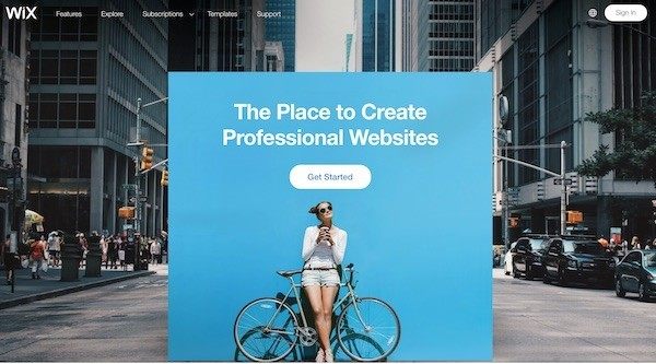 Wix free website builder