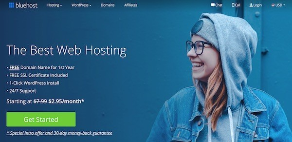 Building a website with bluehost