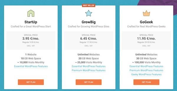 Siteground WP hosting price