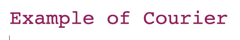 best web safe fonts courier