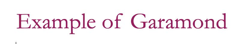 Garamond web fonts