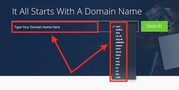 Bluehost ricerca dominio