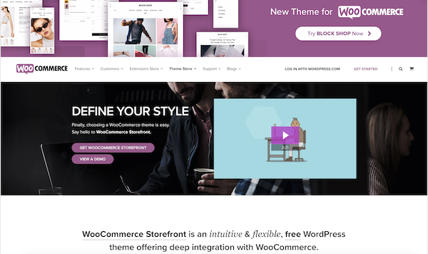 Storefront WP theme by WooCommerce