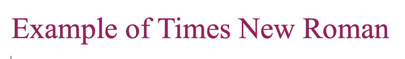 web safe fonts times new roman