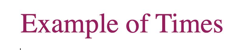 Times web font
