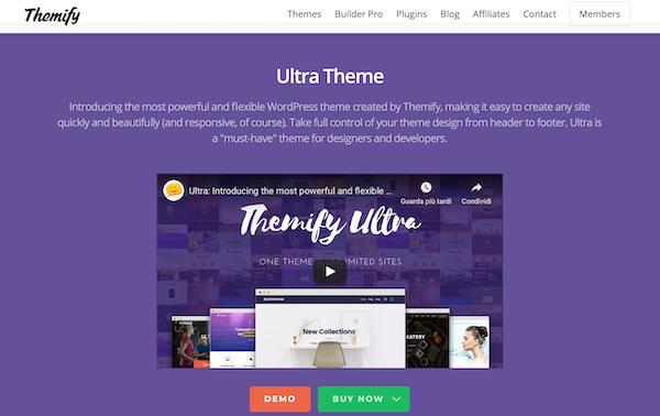 Ultra per WordPress