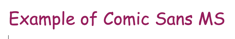 web safe fonts comic sans MS