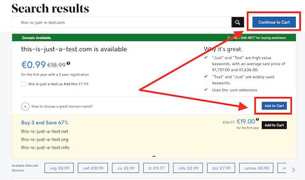 come comprare un dominio con GoDaddy