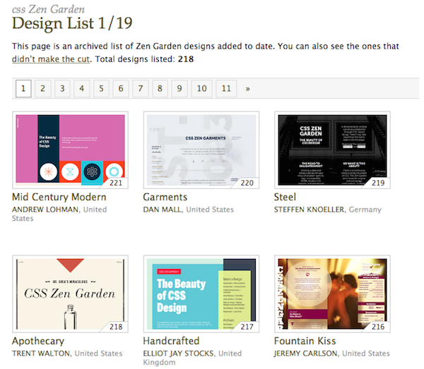 CSS Zen Garden Web Design Ideas