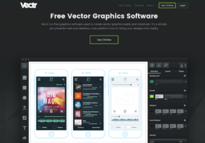 Vectr free tool for web design