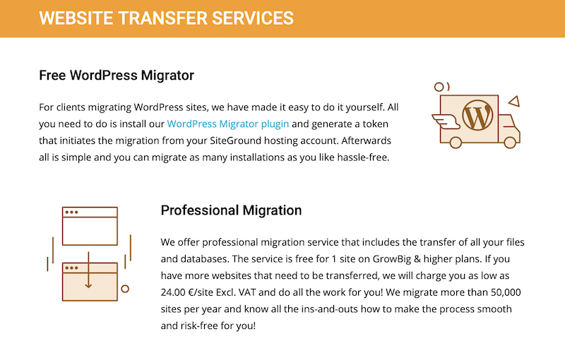 Website migration is free