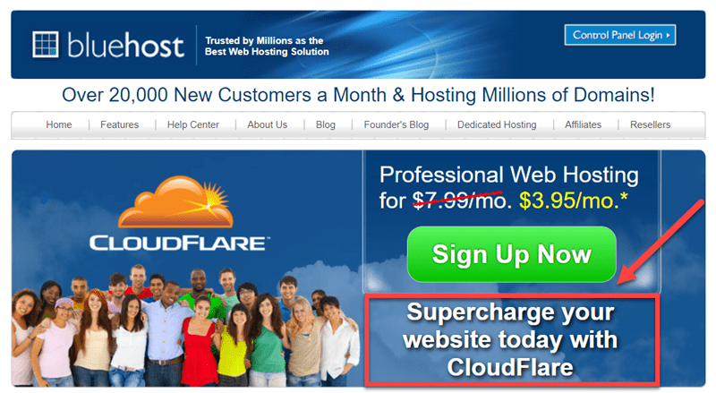 Cloudflare BlueHost