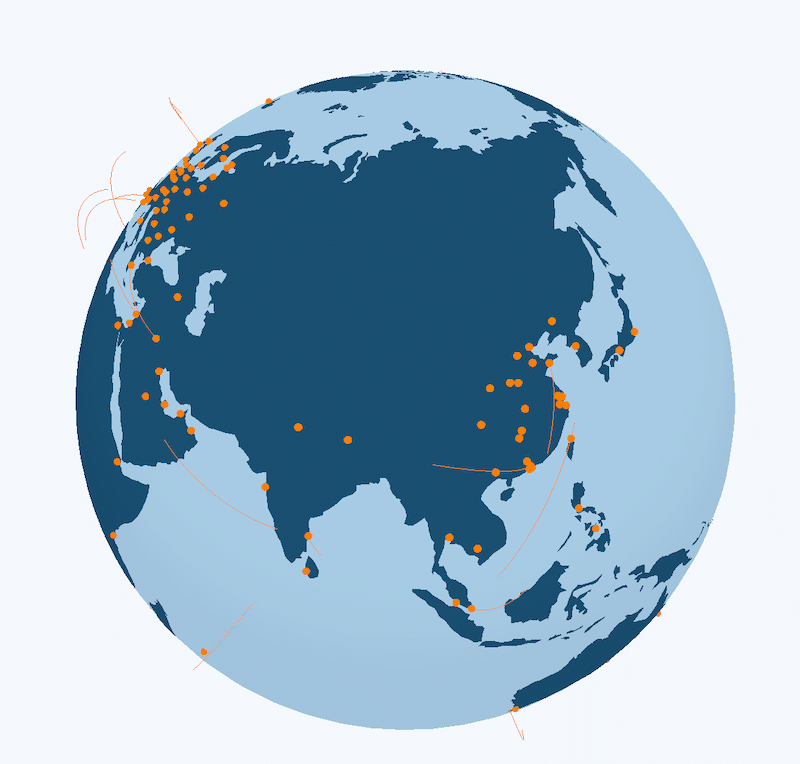 Cloudflare has server all around the globe
