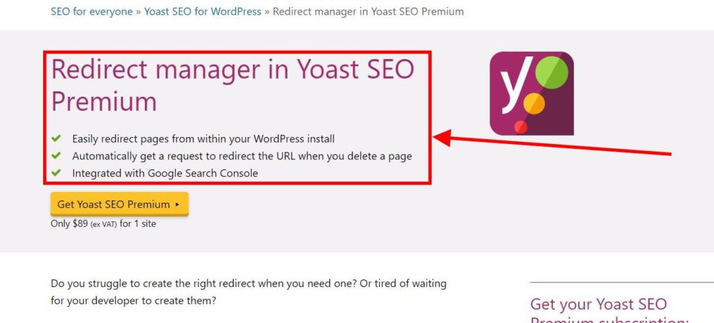 Redirect Manager Yoast SEO