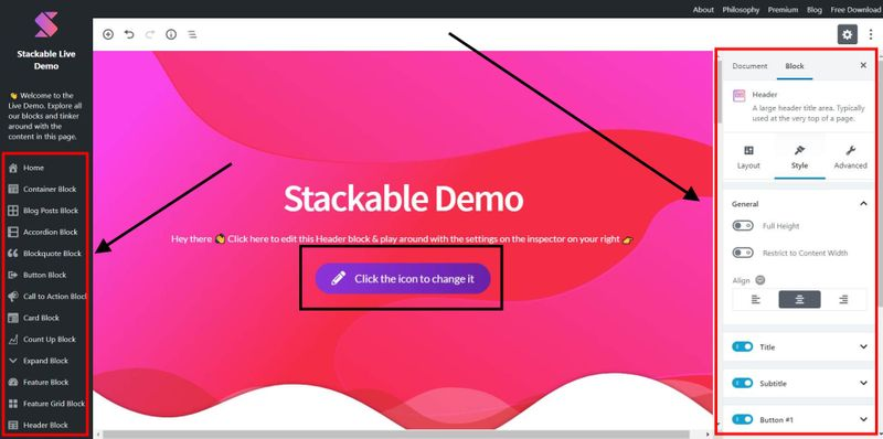 How to use Stackable