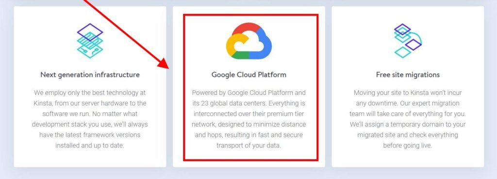Kinsta Google Cloud Platform