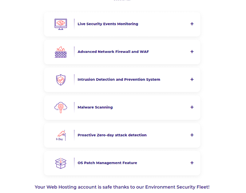 HostArmada security features list