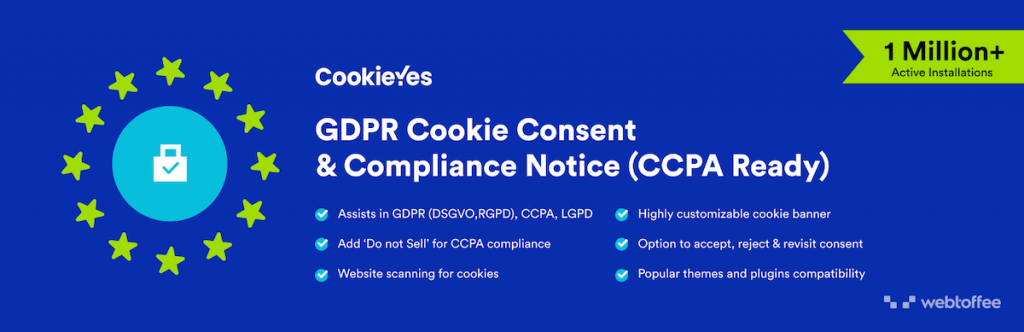 CookieYes GDPR Cookie Consent & Compliance Notice Plugin