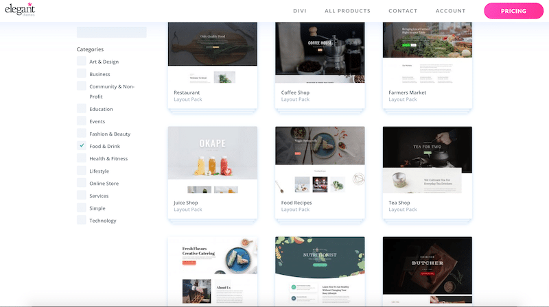 Rich layout library by Elegant Themes