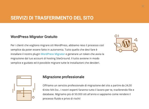 Migrazione sito con SiteGround